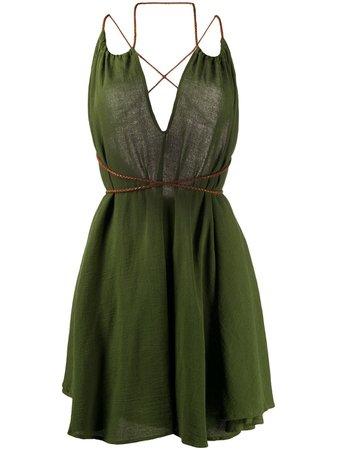 Caravana MAHAHUAL V-Neck Dress MAHAHUAL Green | Farfetch