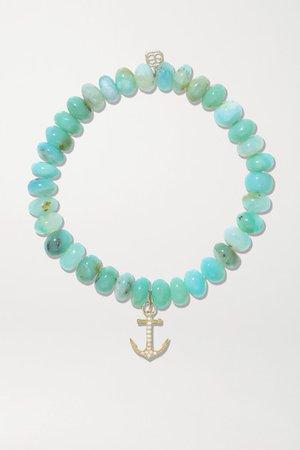 Sydney Evan | 14-karat gold, opal and diamond bracelet | NET-A-PORTER.COM