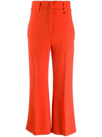 Emilio Pucci Flared Cropped Trousers - Farfetch