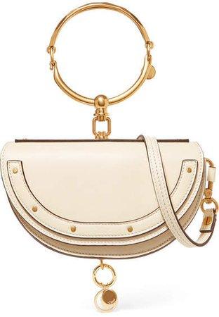 Nile Bracelet Mini Leather Shoulder Bag - Off-white