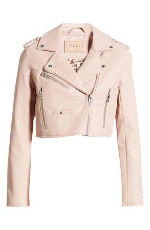 BLANKNYC Crop Faux Leather Moto Jacket | Nordstrom