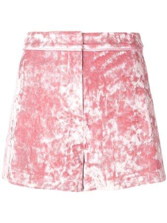 ALEXIS Kelis Velvet Shorts In Pink