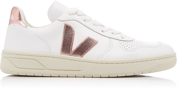 V-10 Low-Top Leather Sneakers