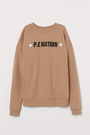 Cotton Sweatshirt - Beige