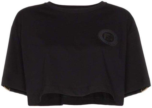FF logo-stripe cropped T-shirt