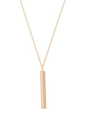 Enamel CZ Bar Necklace