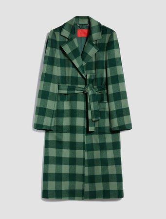 Pure wool Runaway coat, green pattern - Max&Co. PURE WOOL RUNAWAY COAT