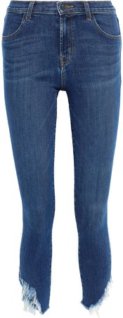 Alana Cropped Frayed Mid-rise Skinny Jeans