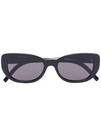 Saint Laurent Eyewear Betty Oval cat-eye Sunglasses - Farfetch