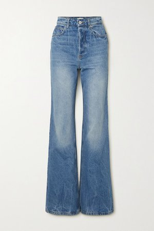 High-rise Straight-leg Denim Jeans - Blue