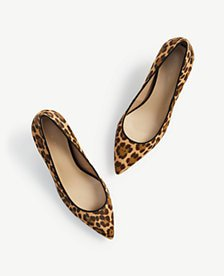 Reese Cheetah Print Haircalf Pumps | Ann Taylor