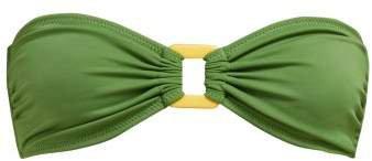 The Tati Bandeau Bikini Top - Womens - Green