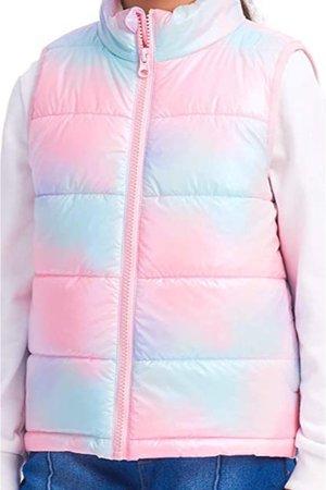 pink and blue vest