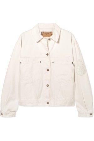 MCQ ALEXANDER MCQUEEN Appliquéd denim jacket