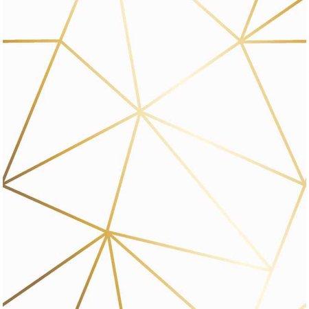 I Love Wallpaper Zara Shimmer Metallic Wallpaper White, Gold (ILW980110) - Wallpaper from I Love Wallpaper UK