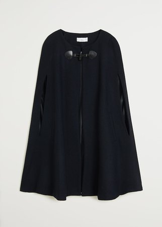 Wool-blend cape - Women | Mango USA