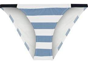 The Morgan Striped Low-rise Bikini Briefs