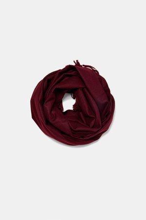 zara red scarf