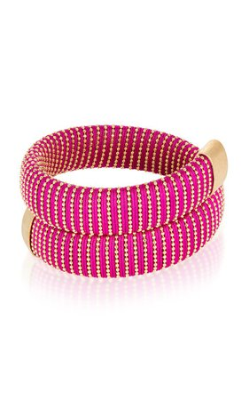 Magenta Caro Gold-Plated Bracelet By Carolina Bucci   Moda Operandi