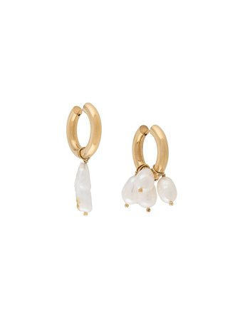Timeless Pearly pearl-embellished Hoop Earrings - Farfetch