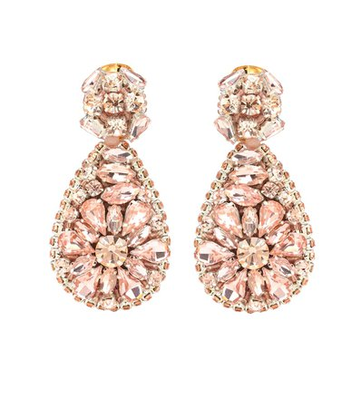 Crystal-Embellished Earrings - Oscar de la Renta | mytheresa