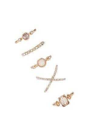 Forever 21 Gold Ring Set