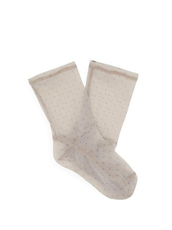 Polka dot-print mesh ankle socks | Darner Socks | MATCHESFASHION.COM AU
