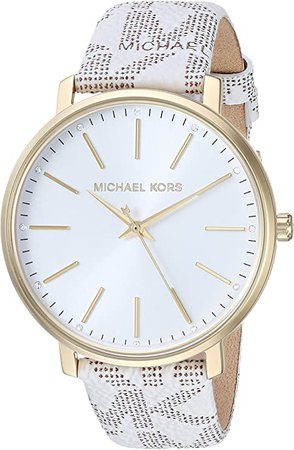 Michael Kors Women's Pyper Stainless Steel Quartz Watch with Plastic Strap, White, 18 (Model: MK2858): Watches