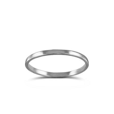 Lost Apostle White Bronze Plain Stacking Ring