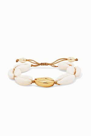 Gold Large Puka gold-plated and shell bracelet | Tohum | NET-A-PORTER