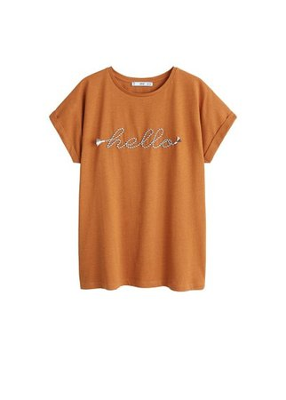 MANGO Rope message t-shirt