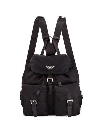 Prada Vela Large Two-Pocket Backpack | Neiman Marcus