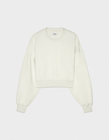 Sweatshirt with voluminous sleeves - Sweatshirts & Hoodies - Bershka Egypt