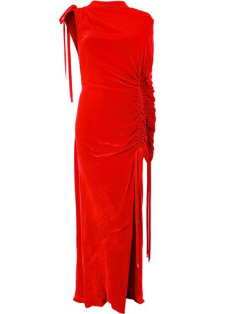 Monse Ruched Velvet Gown - Farfetch