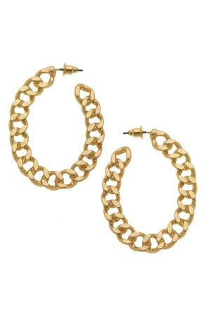Canvas Jewelry Elin Chain Link Hoop Earrings | Nordstrom