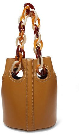 Trademark - Goodall Leather Bucket Bag - Brown