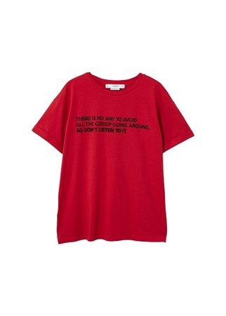 MANGO Printed message t-shirt