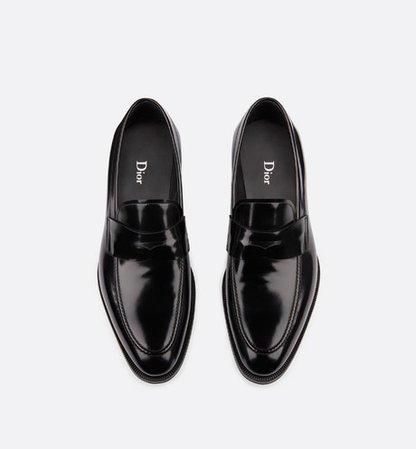 Loafer in black calfskin - Shoes - Man | DIOR