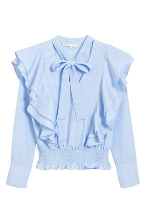 English Factory Ruffle Smocked Top | Nordstrom