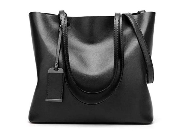 Amazon.com: Women Genuine leather Shoulder Bags Zipper Handbags for Women Top Handle Bag Tote Bags by YUNS (Black): Clothing
