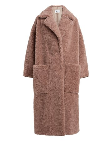 Nanushka   Imogen Faux Fur Teddy Coat   INTERMIX®