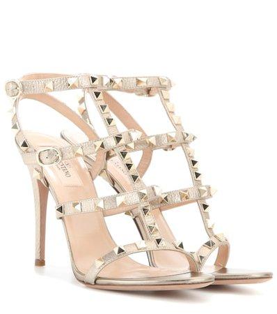 Valentino Garavani Rockstud metallic leather sandals