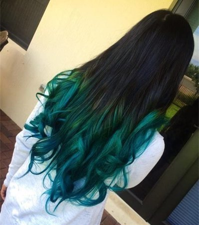 ombre green hair color - Google Search