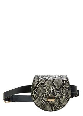 MANGO Animal print belt bag