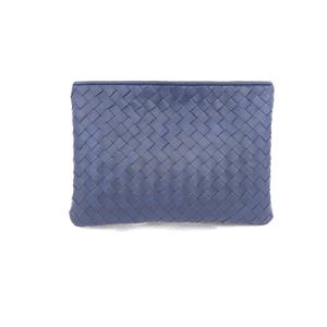 Massimo Dutti Braided Leather Clutch (Blue)