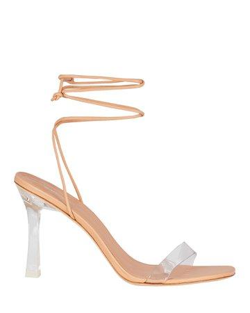 Larroudé Gloria Leather Wrap Sandals   INTERMIX®