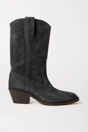 Danta Suede Ankle Boots - Black