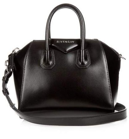 Antigona Mini Leather Cross Body Bag - Womens - Black