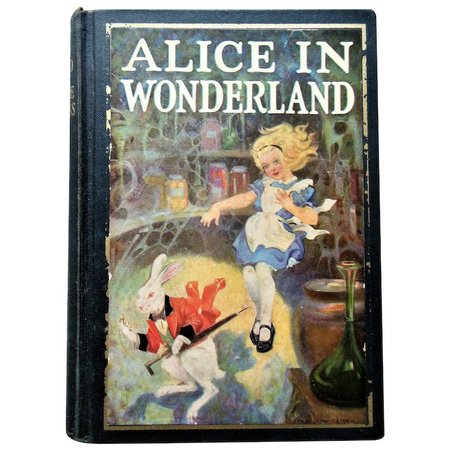 1925 Alice In Wonderland & Through The Looking Glass 89 Illustrations : Valzak's Antique Treasures | Ruby Lane