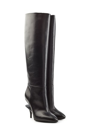 Leather Knee Boots Gr. IT 37